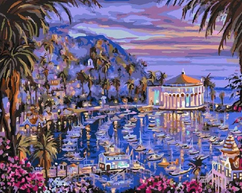 «Санта-Каталина» Роберта ФайнэлаЦветной (Standart)<br><br><br>Артикул: GX7908_Z<br>Основа: Холст<br>Сложность: сложные<br>Размер: 40x50 см<br>Количество цветов: 25<br>Техника рисования: Без смешивания красок