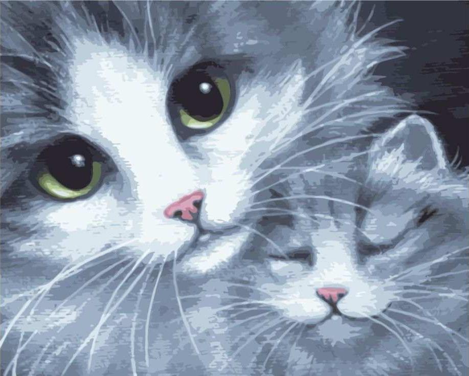 Картина по номерам «Мама с сыночком»Раскраски по номерам<br><br>