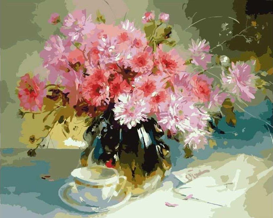 Картина по номерам «Хорошее утро» Анны ХомчикЦветной (Premium)<br><br><br>Артикул: MG7616_Z<br>Основа: Холст<br>Сложность: сложные<br>Размер: 40x50 см<br>Количество цветов: 25<br>Техника рисования: Без смешивания красок