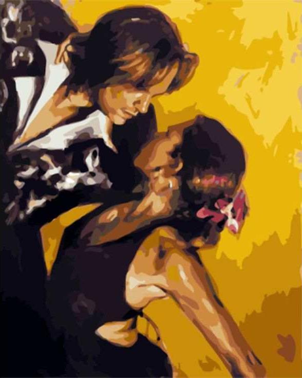 «Эмоциональный танец» Тони ЧоуЦветной (Standart)<br><br><br>Артикул: GX8105_Z<br>Основа: Холст<br>Сложность: сложные<br>Размер: 40x50 см<br>Количество цветов: 25<br>Техника рисования: Без смешивания красок