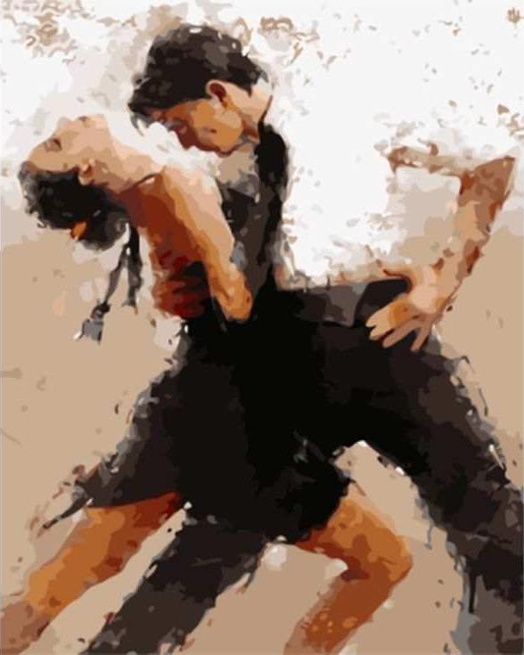Картина по номерам «Танец страсти» Андре КонаЦветной (Standart)<br><br><br>Артикул: GX8106_Z<br>Основа: Холст<br>Сложность: сложные<br>Размер: 40x50 см<br>Количество цветов: 25<br>Техника рисования: Без смешивания красок