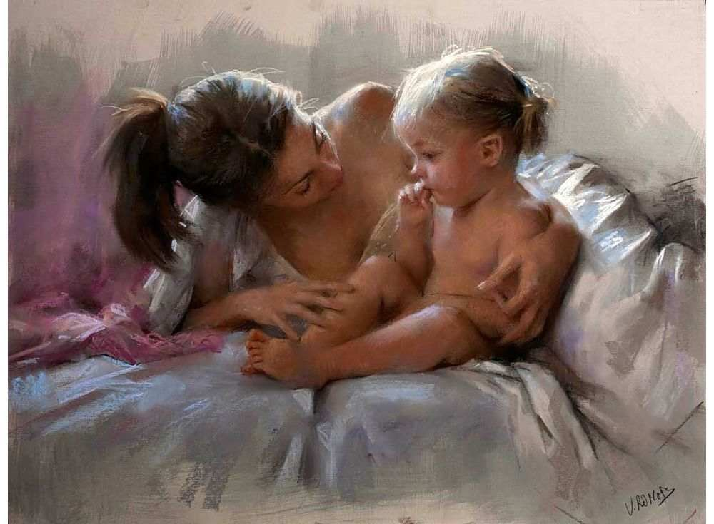мама с малышкой голые видео