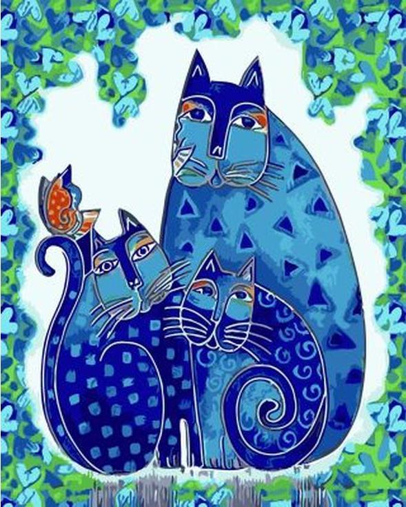 «Три кошки» Лаурель БёрчPaintboy (Premium)<br><br><br>Артикул: GX9617<br>Основа: Холст<br>Сложность: сложные<br>Размер: 40x50<br>Количество цветов: 25
