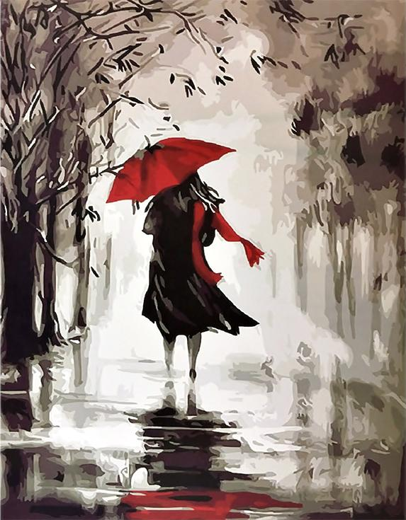 «Под красным зонтиком» Хелен КоттлPaintboy (Premium)<br><br><br>Артикул: GX9866<br>Основа: Холст<br>Сложность: средние<br>Размер: 40x50 см<br>Количество цветов: 16<br>Техника рисовани: Без смешивани красок