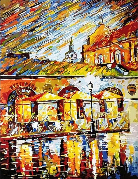 Картина по номерам «Минск, у ратуши» Романа ФедосенкоPaintboy (Premium)<br><br><br>Артикул: GX9973<br>Основа: Холст<br>Сложность: сложные<br>Размер: 40x50 см<br>Количество цветов: 24