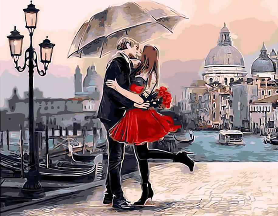 Картина по номерам «Венецианская любовь» Майкла ТаринаРаскраски по номерам Paintboy (Original)<br><br><br>Артикул: GX9991_R<br>Основа: Холст<br>Сложность: сложные<br>Размер: 40x50 см<br>Количество цветов: 25<br>Техника рисования: Без смешивания красок