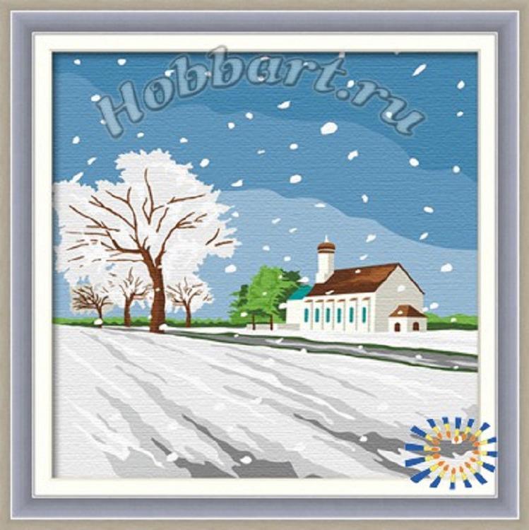«Под белым одеялом»Hobbart<br><br><br>Артикул: HB3030009<br>Основа: Холст<br>Сложность: средние<br>Размер: 30x30 см<br>Количество цветов: 15<br>Техника рисования: Без смешивания красок