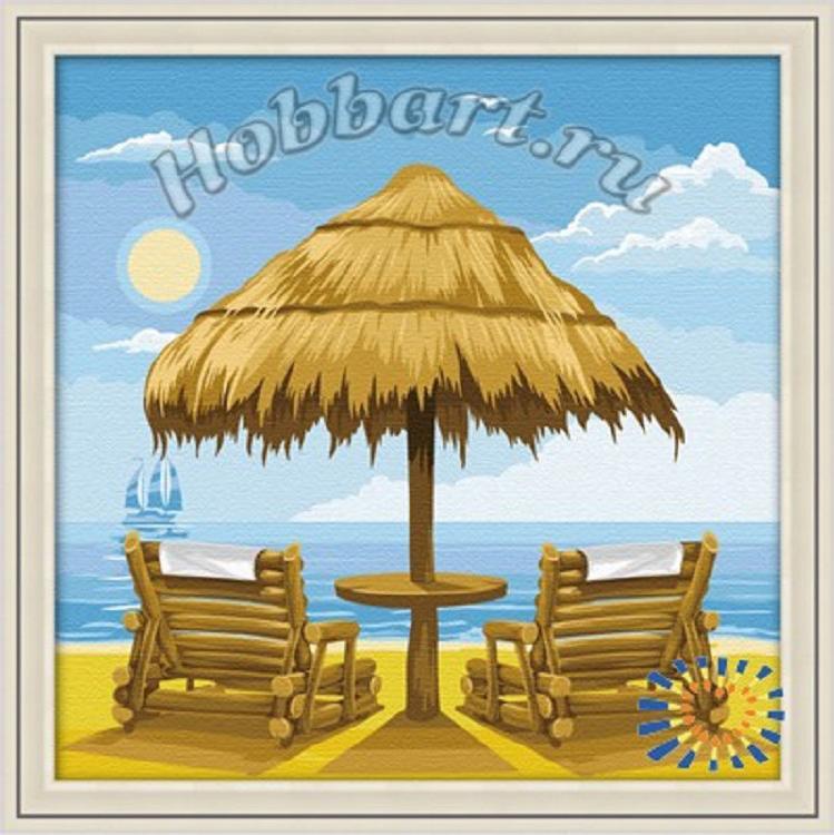 «Под летним солнцем»Hobbart<br><br><br>Артикул: HB3030010<br>Основа: Холст<br>Сложность: средние<br>Размер: 30x30 см<br>Количество цветов: 20<br>Техника рисования: Без смешивания красок