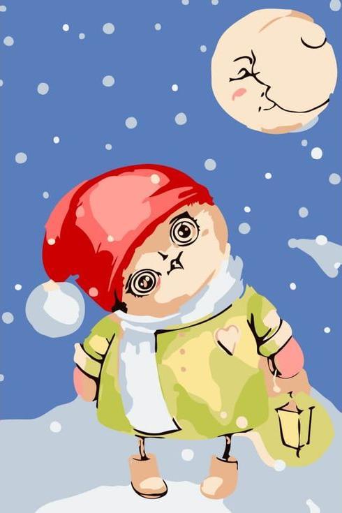 Картина по номерам «Зимняя совушка» Инги ПальцерЦветной (Premium)<br><br><br>Артикул: MC1022_Z<br>Основа: Холст<br>Сложность: средние<br>Размер: 20x30 см<br>Количество цветов: 10<br>Техника рисования: Без смешивания красок