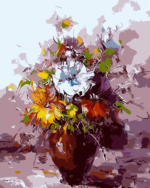 Картина по номерам «В городской суете» Хосе РодригесаЦветной (Premium)<br><br><br>Артикул: ME1017_Z<br>Основа: Цветной холст<br>Сложность: сложные<br>Размер: 30x40 см<br>Количество цветов: 25<br>Техника рисования: Без смешивания красок