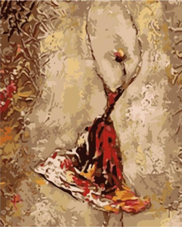 Картина по номерам «Танец балерины»Цветной (Premium)<br><br><br>Артикул: ME1030_Z<br>Основа: Цветной холст<br>Сложность: сложные<br>Размер: 30x40 см<br>Количество цветов: 25<br>Техника рисования: Без смешивания красок