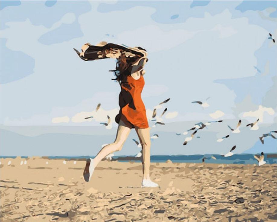 Картина по номерам «Лёгкость»Menglei (Premium)<br><br><br>Артикул: MG690<br>Основа: Холст<br>Сложность: сложные<br>Размер: 40x50 см<br>Количество цветов: 24<br>Техника рисования: Без смешивания красок
