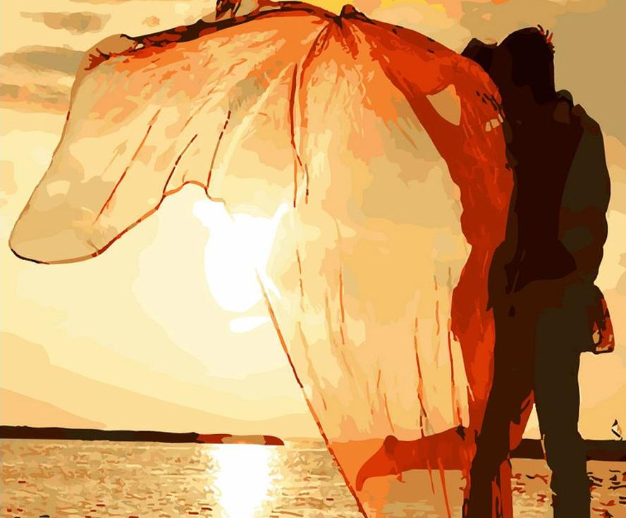 «Романтика на закате»Menglei (Premium)<br><br><br>Артикул: MG704<br>Основа: Холст<br>Сложность: сложные<br>Размер: 40x50 см<br>Количество цветов: 24<br>Техника рисования: Без смешивания красок