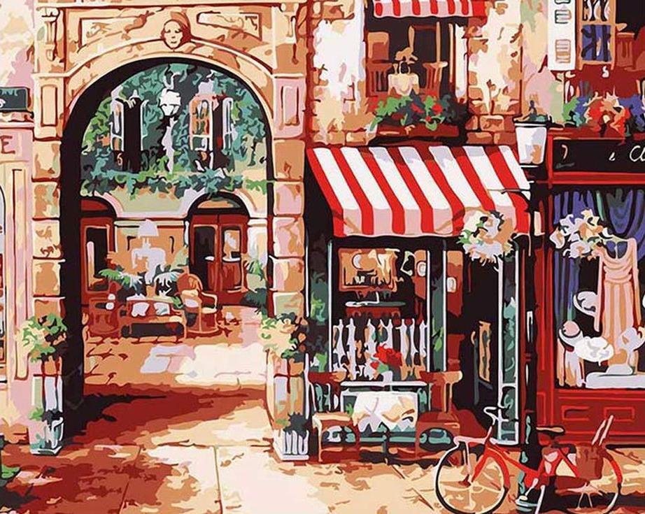 «Парижская улочка» Джона О'БрайенаMenglei (Premium)<br><br><br>Артикул: MG731<br>Основа: Холст<br>Сложность: сложные<br>Размер: 40x50 см<br>Количество цветов: 23<br>Техника рисования: Без смешивания красок