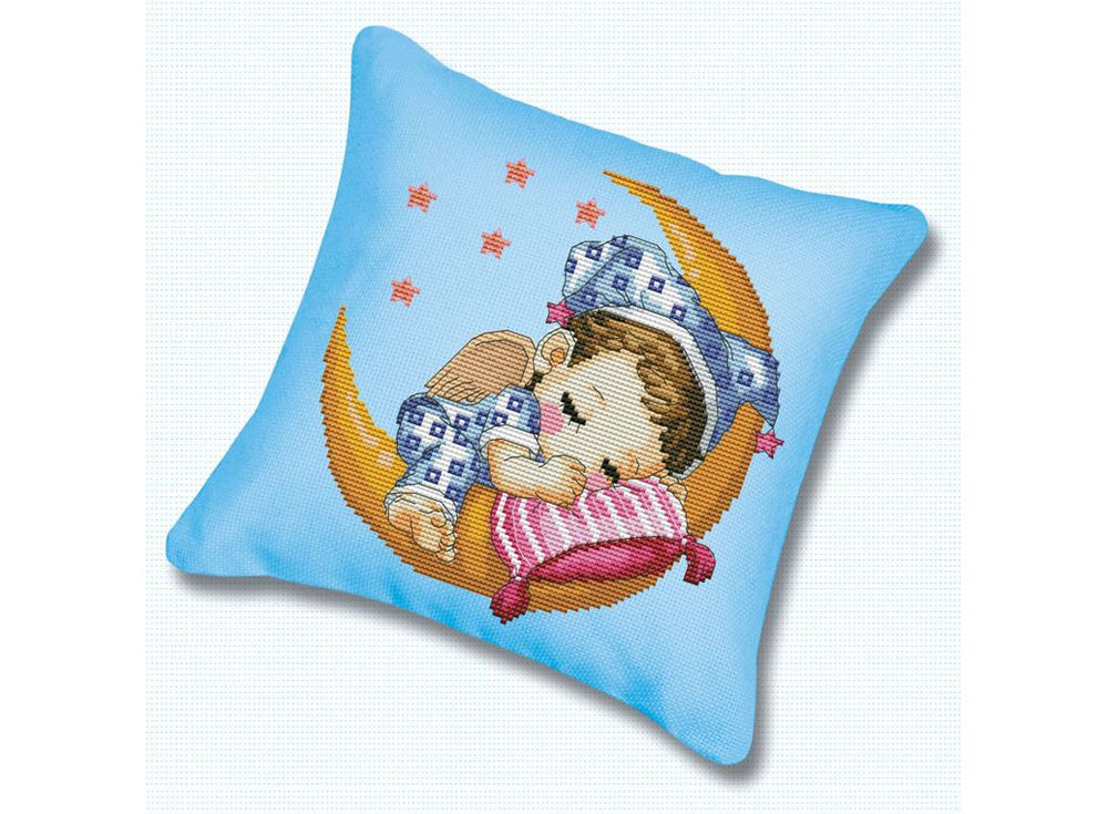Подушка «Сладкий сон» (канва голубая)