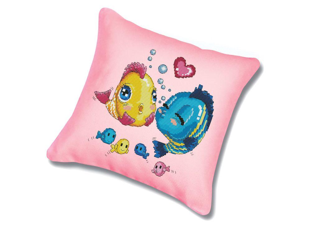 Подушка «Волнение» (канва розовая)