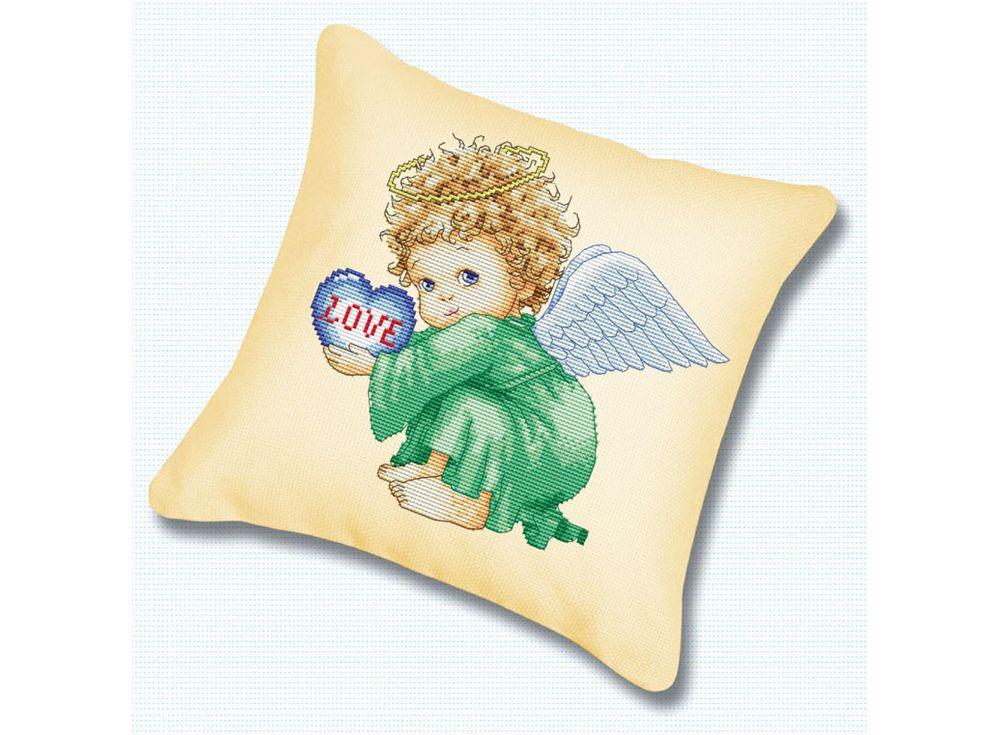 Подушка «Милый ангел» (канва бежевая)