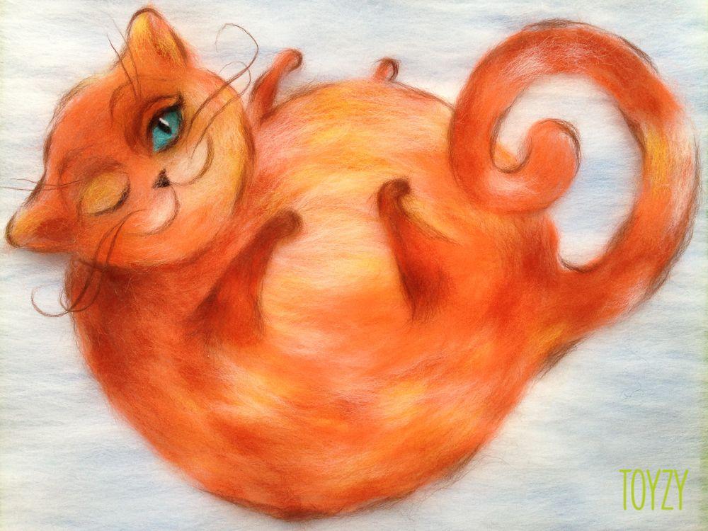 Картина шерстью «Рыжий кот»Картины шерстью Toyzy<br>Набор содержит все, что необходимо для творческого процесса. Порядок работы над картиной шерстью подробно, с фото и пояснениями изложен в инструкции, которой укомплектован набор. Выкладывайте цветную шерсть на подложку слой за слоем, это как рисован...<br><br>Артикул: TZ-P031<br>Сложность: средние<br>Размер: 30x30 см<br>Материал: 100% натуральная шерсть