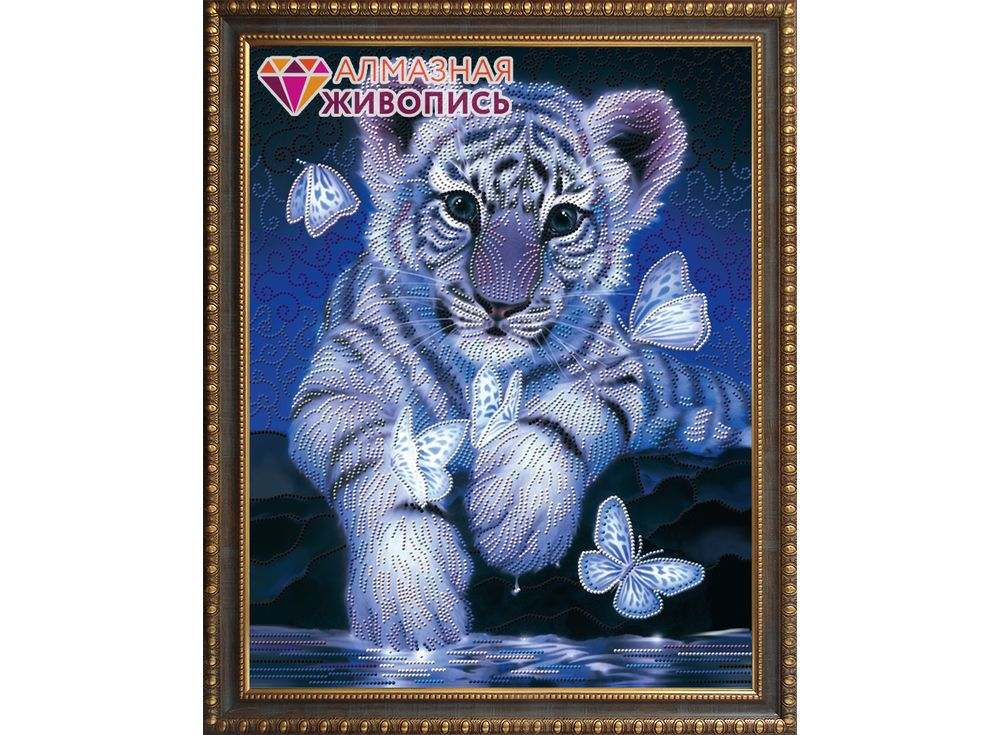 Алмазная вышивка Алмазная живопись Стразы «Тигренок» Кентаро Нишино АЖ-3027