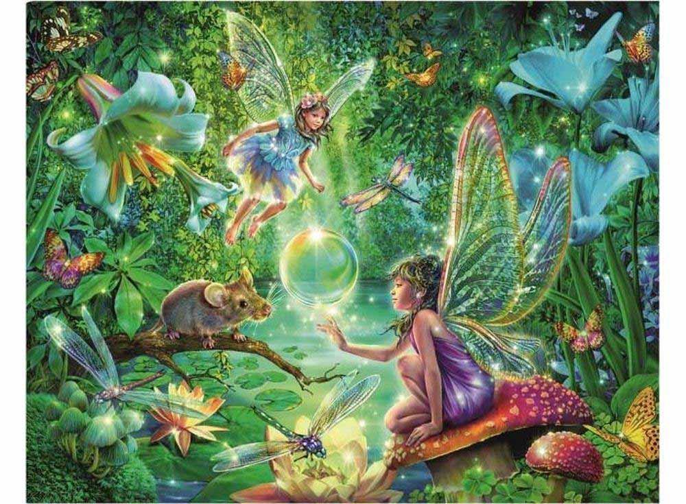 Пазлы «Волшебные феи»Ravensburger<br><br><br>Артикул: 6076<br>Размер: 32,5x24,5 см