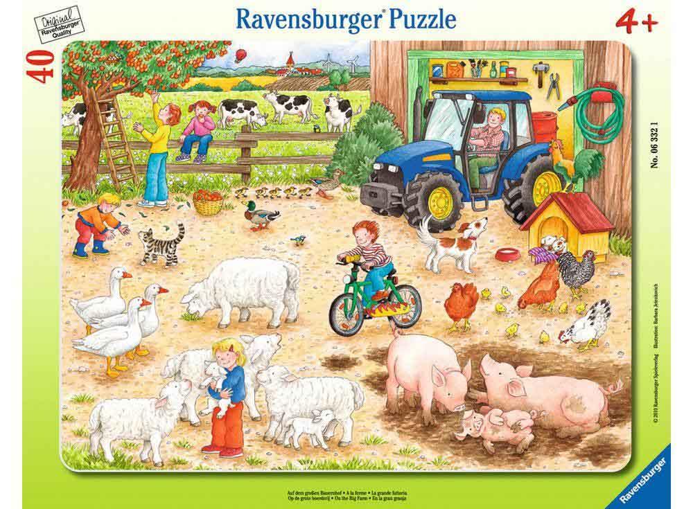 Пазлы «Животные на ферме»Ravensburger<br><br><br>Артикул: 6618<br>Размер: 32,5x24,5 см