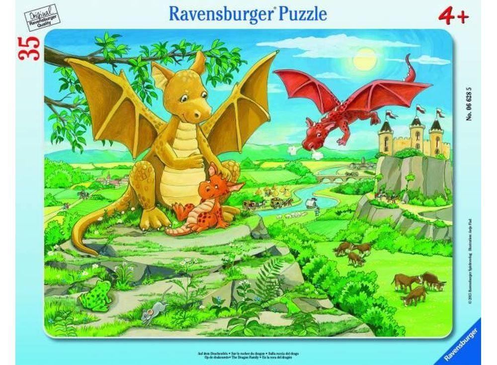 Пазлы «Семья драконов»Ravensburger<br><br><br>Артикул: 6628<br>Размер: 26x18 см