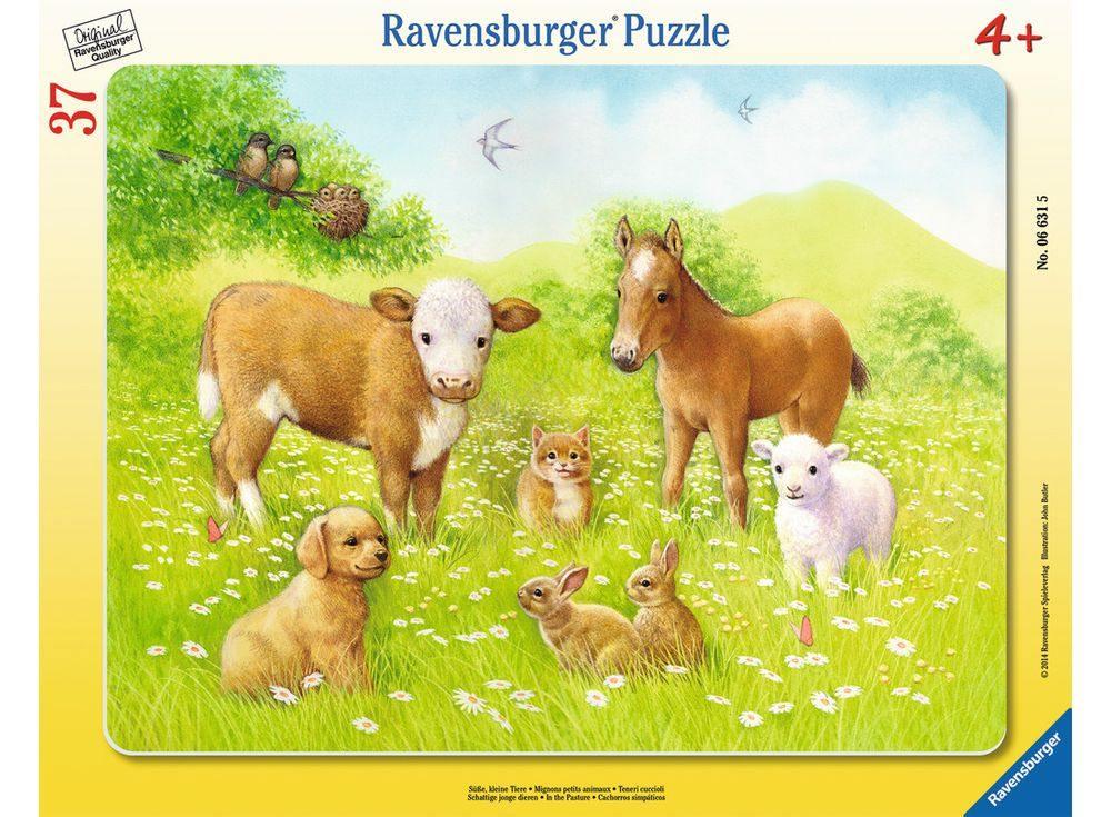 Пазлы «На лугу»Ravensburger<br><br><br>Артикул: 6631<br>Размер: 32,5x24,5 см