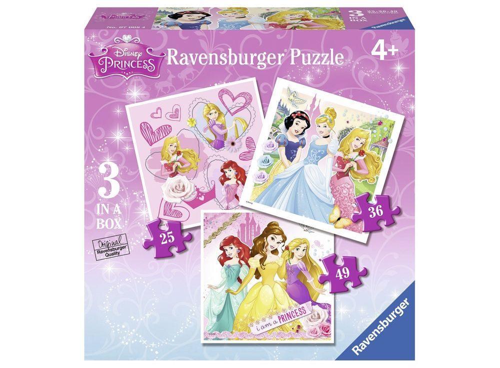 Пазлы «Принцессы»Ravensburger<br><br><br>Артикул: 07008WD<br>Размер: 18x18 см