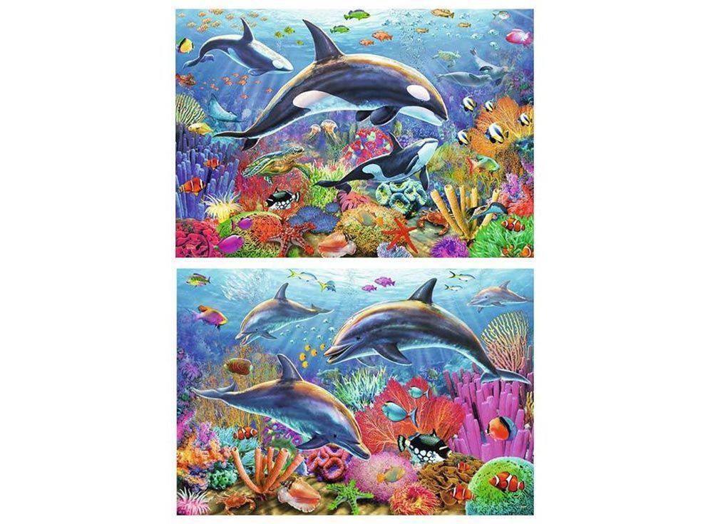 Набор пазлов «Красота подводного мира»Ravensburger<br><br><br>Артикул: 9017<br>Размер: 26x18 см