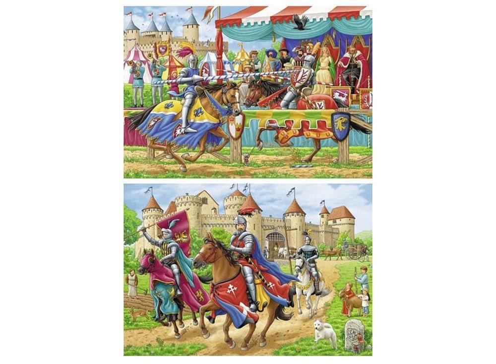 Набор пазлов «Рыцари»Ravensburger<br><br><br>Артикул: 9083<br>Размер: 26x18 см