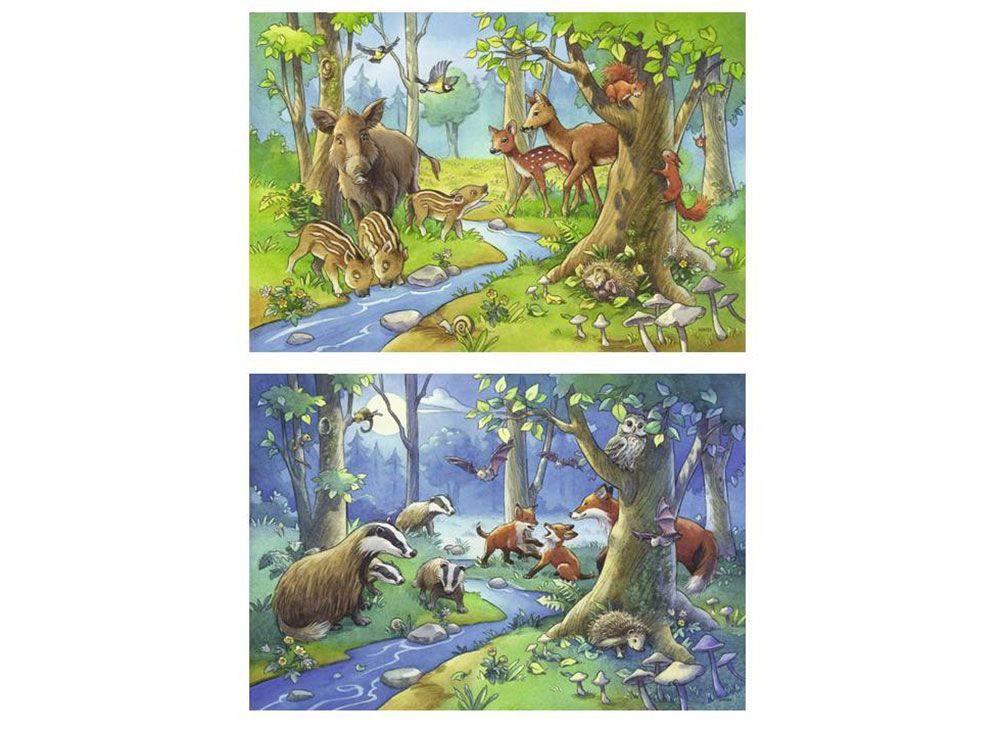 Набор пазлов «Лесные жители»Ravensburger<br><br><br>Артикул: 9117<br>Размер: 26x18 см