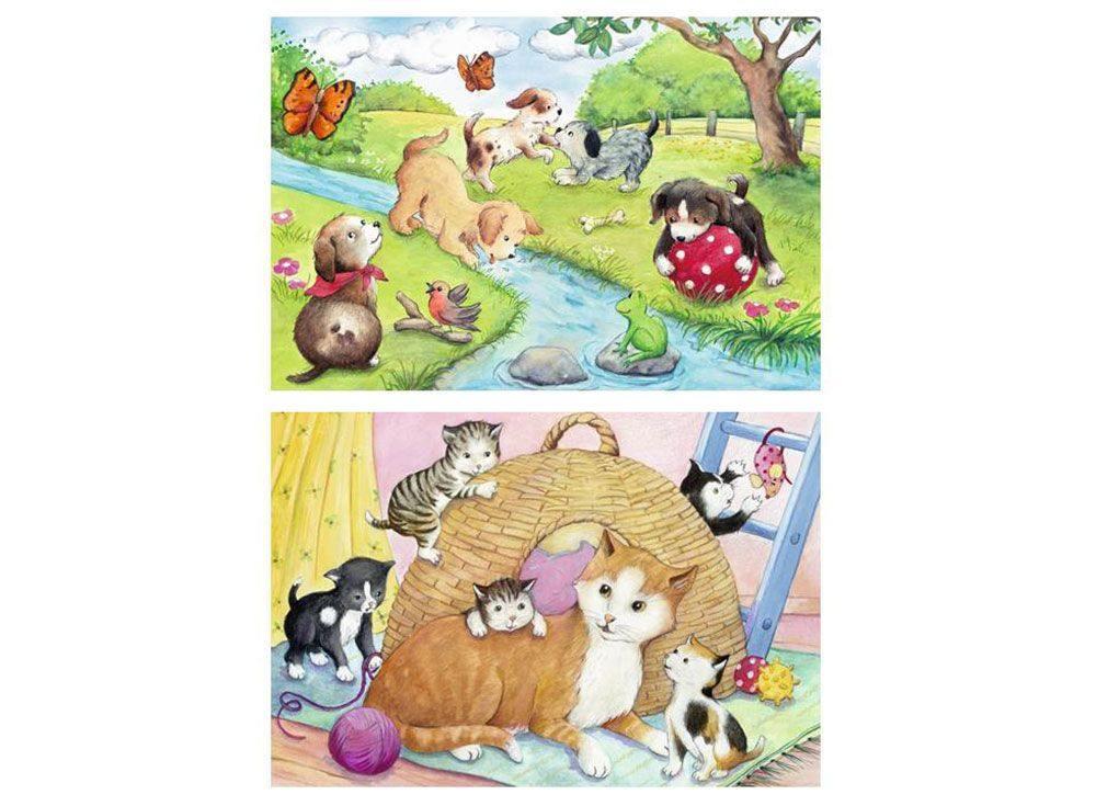 Набор пазлов «Веселые животные»Ravensburger<br><br><br>Артикул: 9194<br>Размер: 26x18 см