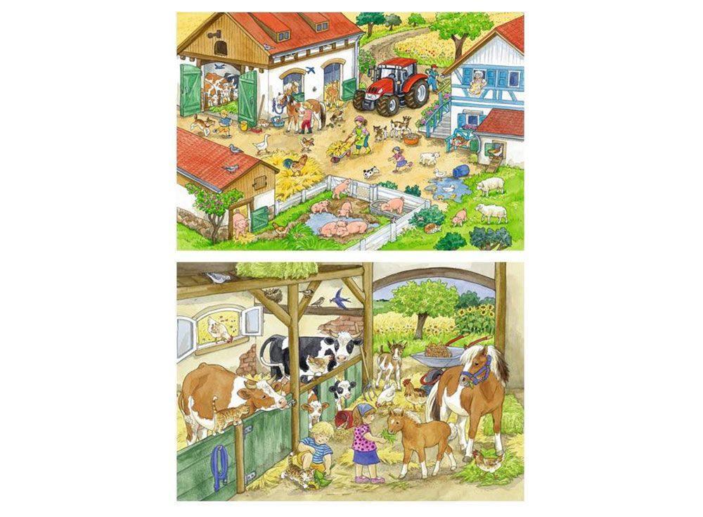 Набор пазлов «День на ферме»Ravensburger<br><br><br>Артикул: 9195<br>Размер: 26x18 см