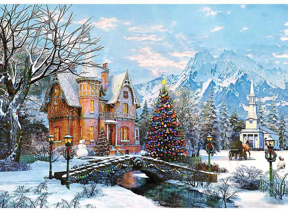 Пазлы «Зимний пейзаж»Trefl<br><br><br>Артикул: 10439<br>Размер: 68x48 см