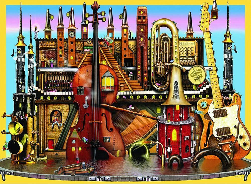 Пазлы «Музыкальный замок»Ravensburger<br><br><br>Артикул: 10524<br>Размер: 49x36 см