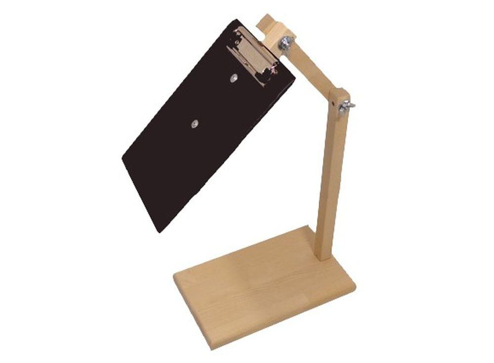 Держатель схем на стойкеАксессуары для вышивки<br><br><br>Артикул: 1059<br>Размер: 30(65)x24x14 см<br>Вес: 1,2 кг<br>Материал: Берёза