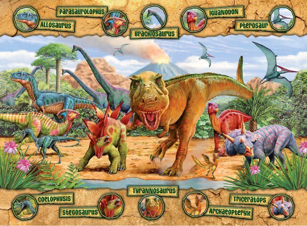 Пазлы «Доисторические животные»Ravensburger<br><br><br>Артикул: 10609<br>Размер: 49x36 см
