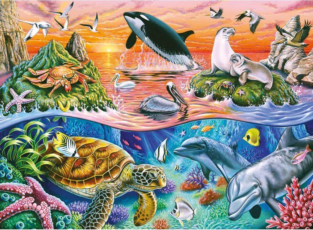 Пазлы «Морской мир»Ravensburger<br><br><br>Артикул: 10681<br>Размер: 49x36 см