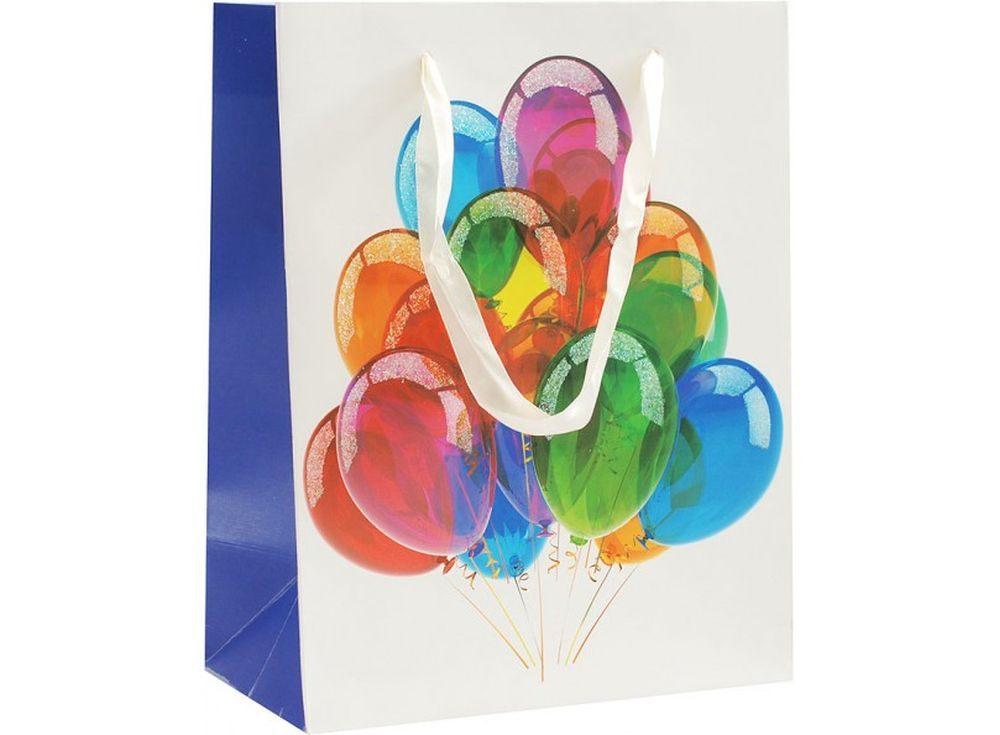 Подарочный пакет «Праздничные шары»Подарочные пакеты<br><br><br>Артикул: 1077-SB<br>Размер: 18x10x23 см