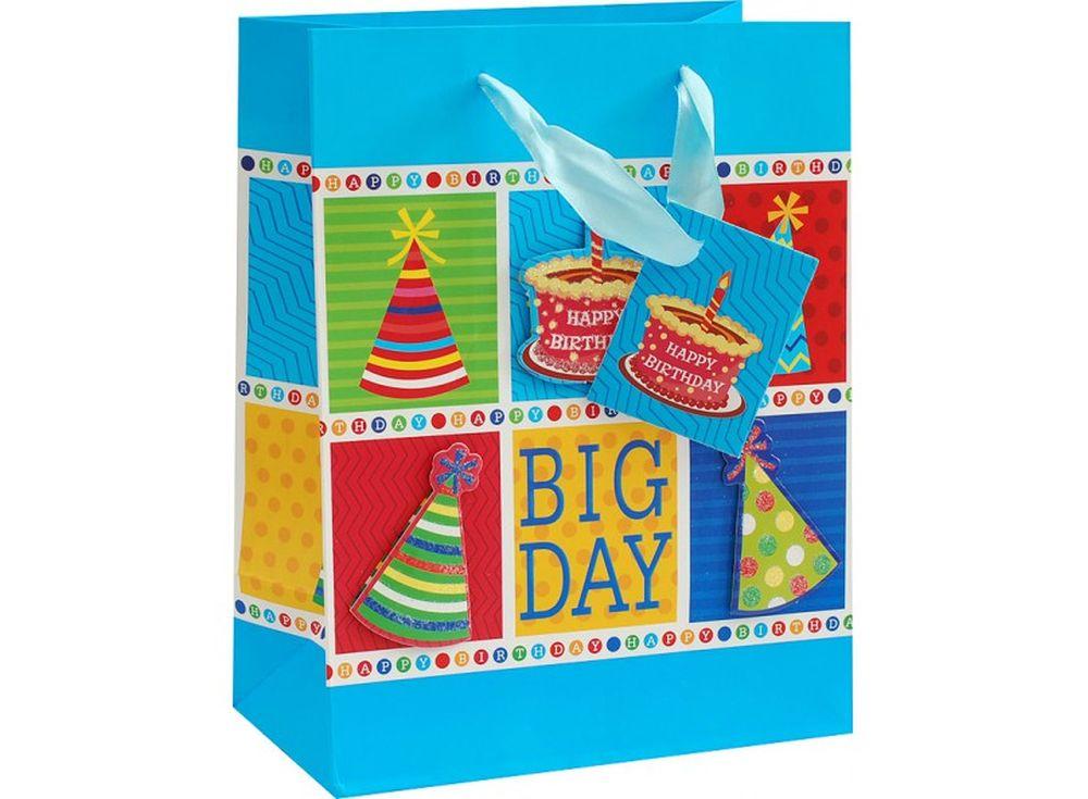 Подарочный пакет «Лучший праздник»Подарочные пакеты<br><br><br>Артикул: 1079-SB<br>Размер: 18x10x23 см