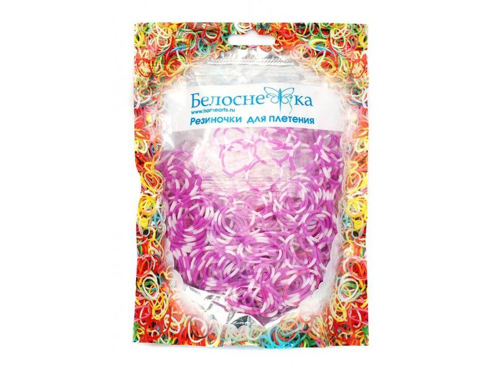 Резиночки для плетения двухцветныеРезинки для плетения<br><br><br>Артикул: 110-RB<br>Цвет: Фиолетовый+белый