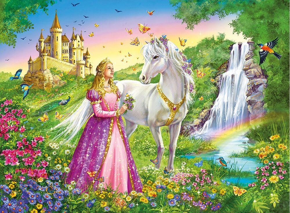 Пазлы «Сказочная принцесса»Ravensburger<br><br><br>Артикул: 12613<br>Размер: 49x36 см