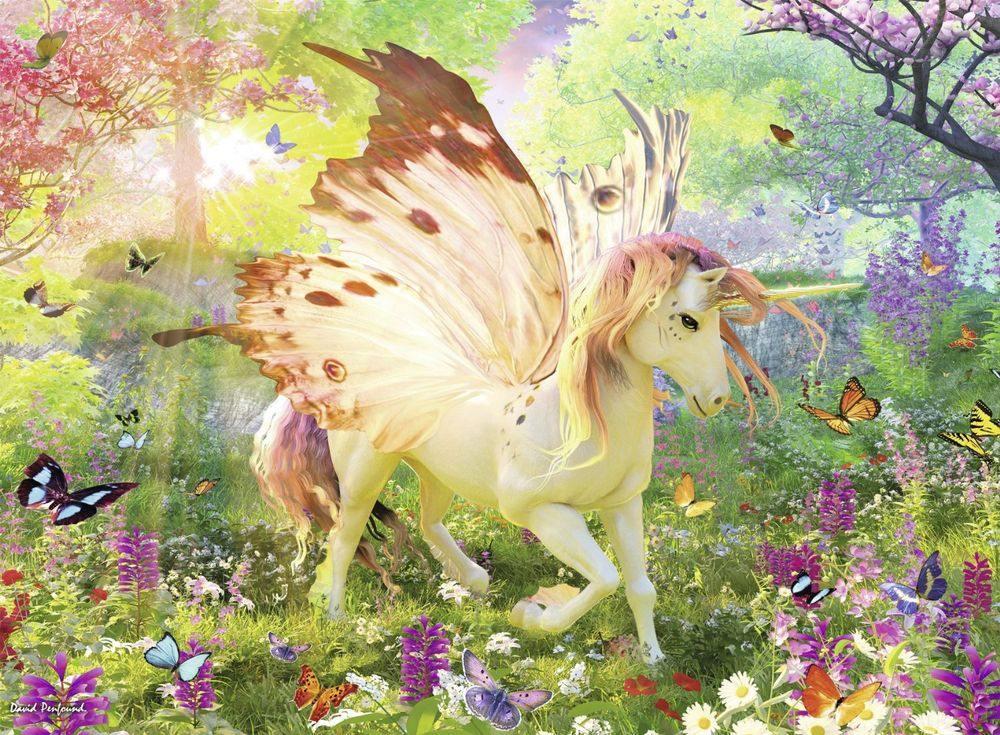 Пазлы «Единорог в волшебном лесу»Ravensburger<br><br><br>Артикул: 13092<br>Размер: 49x36 см