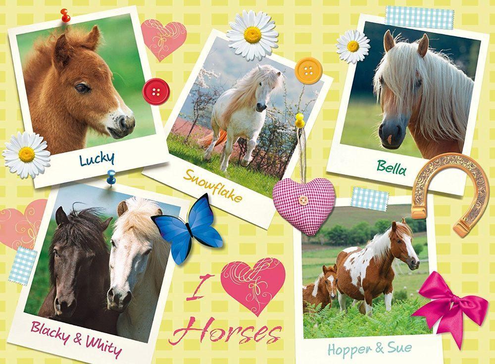 Пазлы «Мои любимые лошади»Ravensburger<br><br><br>Артикул: 13186<br>Размер: 49x36 см