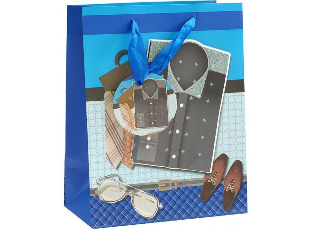 Подарочный пакет «Мужской комплект»Подарочные пакеты<br><br><br>Артикул: 1322-SB<br>Размер: 18x10x23 см