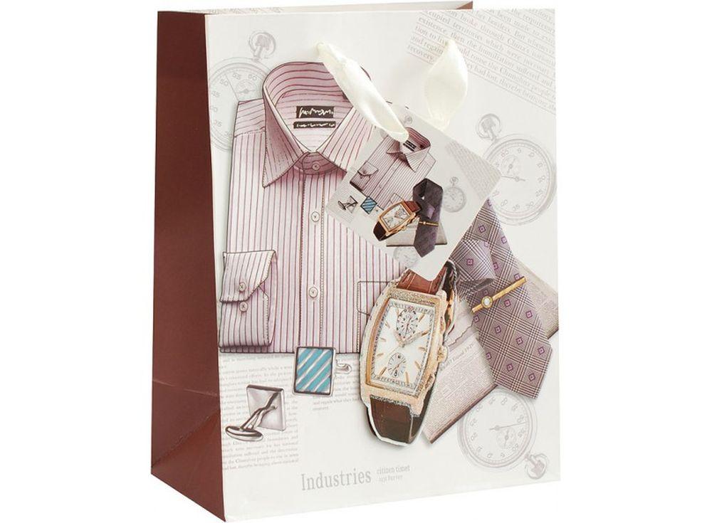Подарочный пакет «Деловой стиль»Подарочные пакеты<br><br><br>Артикул: 1326-SB<br>Размер: 18x10x23 см