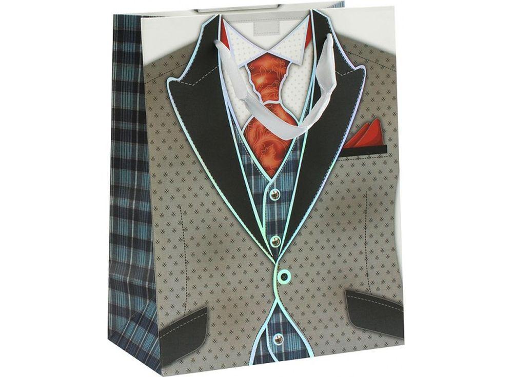 Подарочный пакет «Костюмчик»Подарочные пакеты<br><br><br>Артикул: 1330-SB<br>Размер: 18x10x23