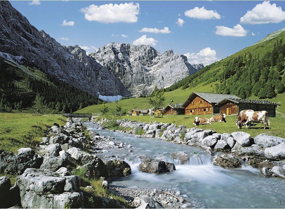 Пазлы «Гора Карвендель»Ravensburger<br><br><br>Артикул: 13655<br>Размер: 49x36 см