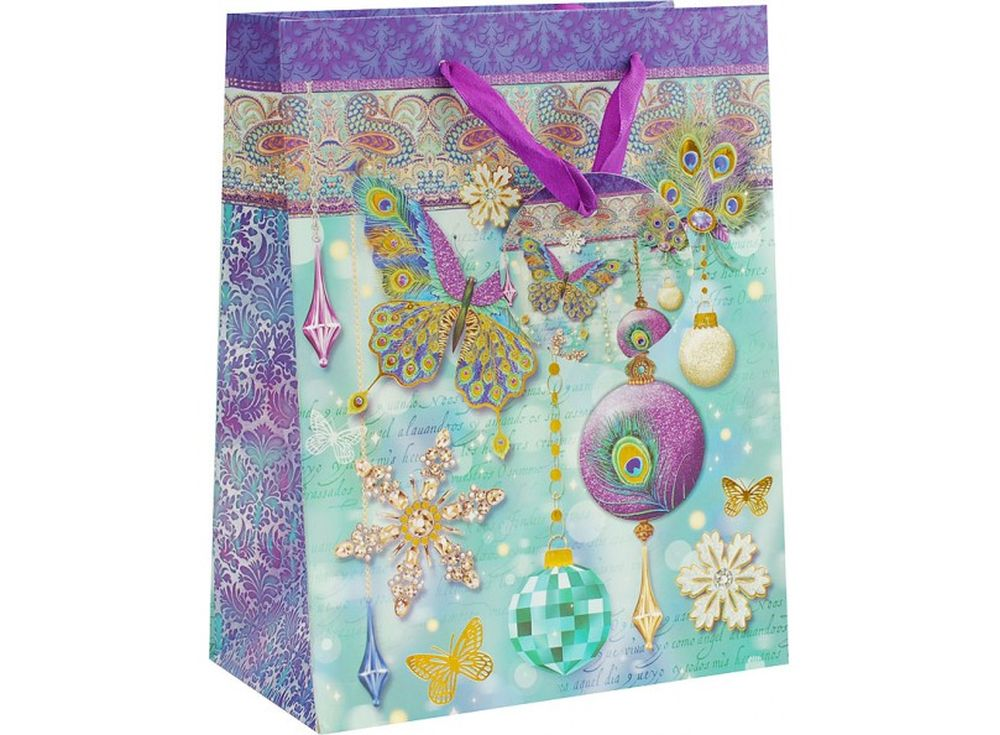 Подарочный пакет «Волшебный праздник»Подарочные пакеты<br><br><br>Артикул: 1373-SB<br>Размер: 26x32x12 см