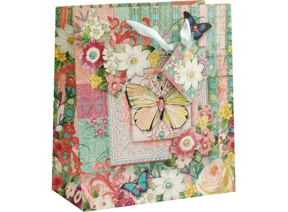 Подарочный пакет «Бабочки среди цветов»